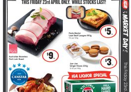 IGA 1 Day Sale Only 23 Apr 2021